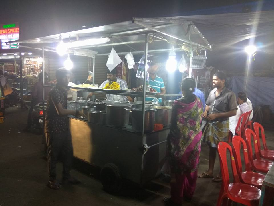 Munnar dinner cart at night