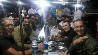 Munnar dinner with new freinds